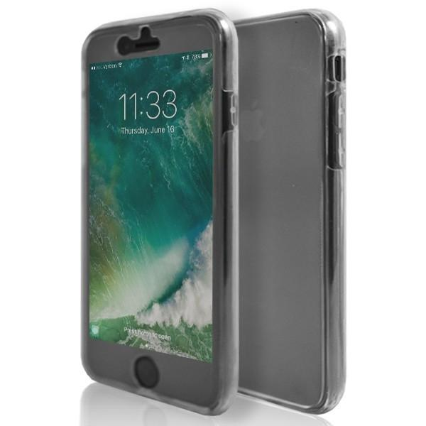 iPhone 7- Front And Back Full Silicone Protective Case Clear Transparent