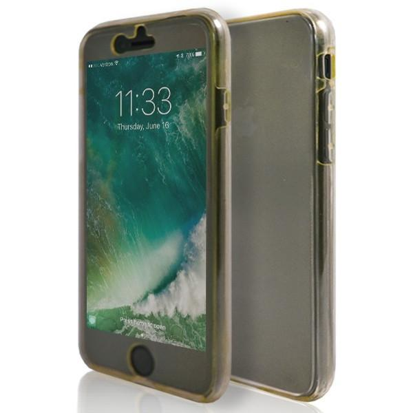 iPhone 7- Front And Back Full Silicone Protective Case Gold