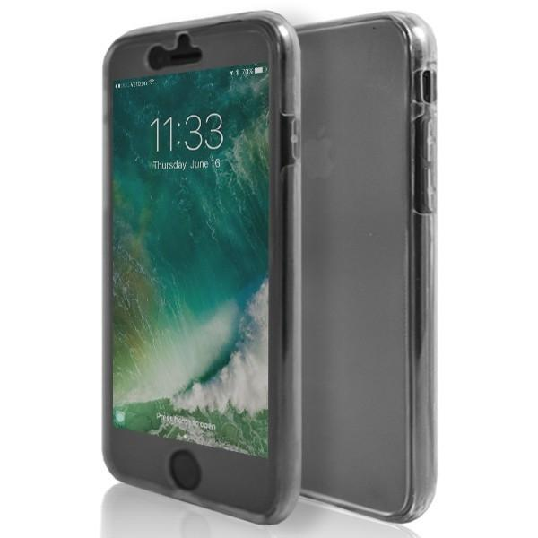 iPhone 7- Front And Back Full Silicone Protective Case Grey