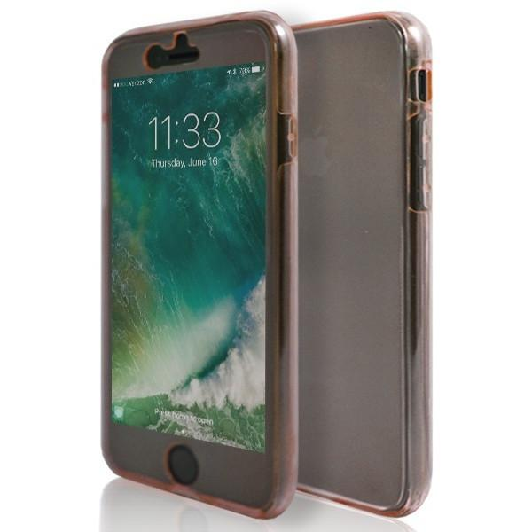 iPhone 7 Plus- Front And Back Full Silicone Protective Case Rose Gold