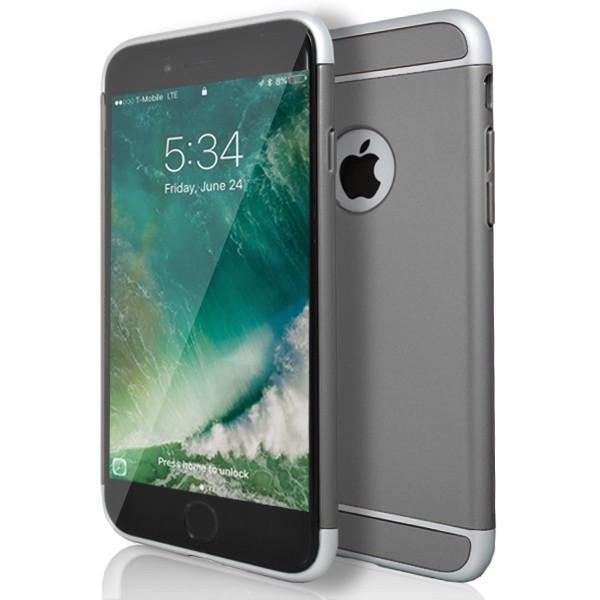 iPhone 6 / 6S- Super Slim Protective Case With Hole For Apple Logo - Grey