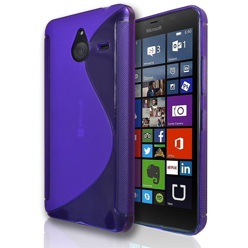 Microsoft Lumia 550 S Line Silicone Gel Case Cover - Blue