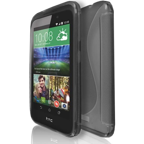 HTC Desire 320 - S Line Gel Silicone Case - Smoked