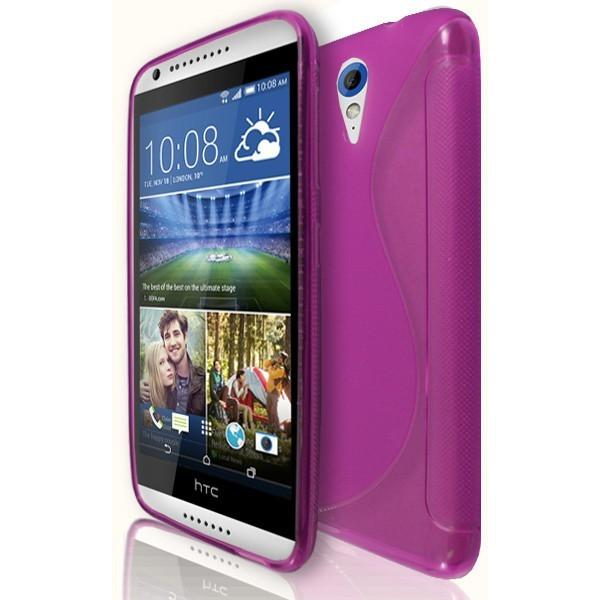 HTC Desire 820 Mini / 620 - Pink S Line Gel Silicone Case