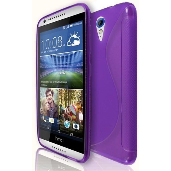 HTC Desire 820 Mini / 620 - S Line Gel Silicone Case - Purple