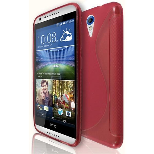 HTC Desire 820 Mini / 620 - S Line Gel Silicone Case - Red
