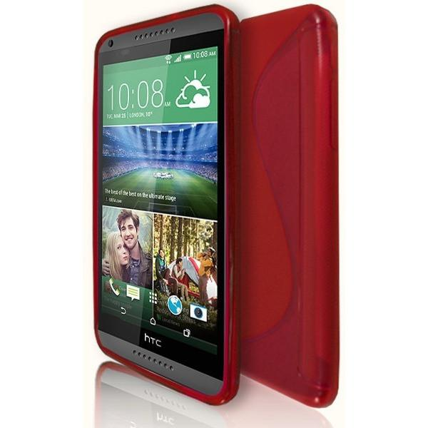 HTC Desire 816 - Red S Line Gel Silicone Case