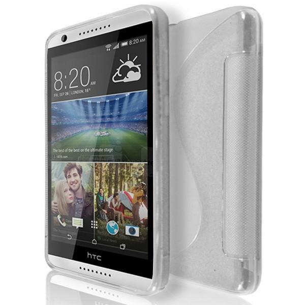 HTC Desire 820 - S Line Gel Silicone Case - Clear Transparent