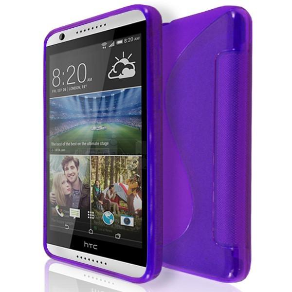 HTC Desire 820 - S Line Gel Silicone Case - Purple