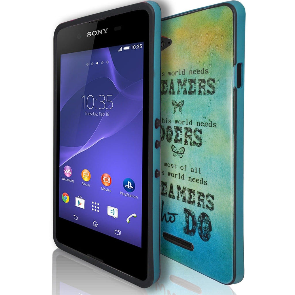 Sony Xperia E3 - Dreams TPU Gel Rubber Silicone Case