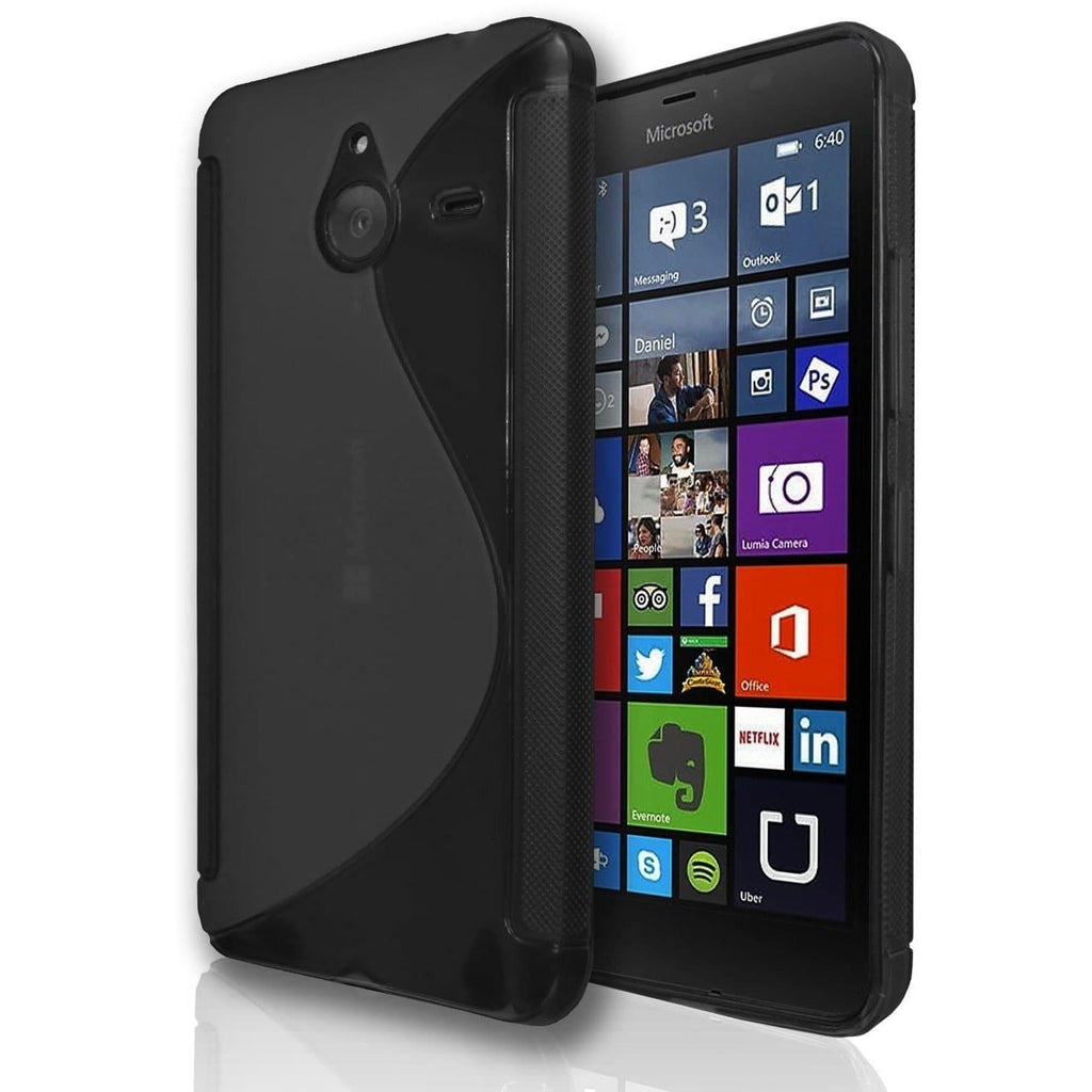 Nokia Lumia 930 S Line Silicone Gel Case Cover - Black