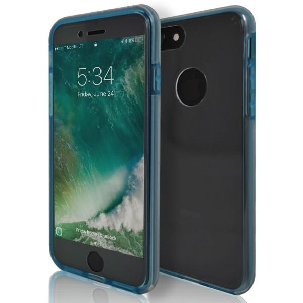 iPhone 7 Case- Front And Back Full Silicone Protective Blue