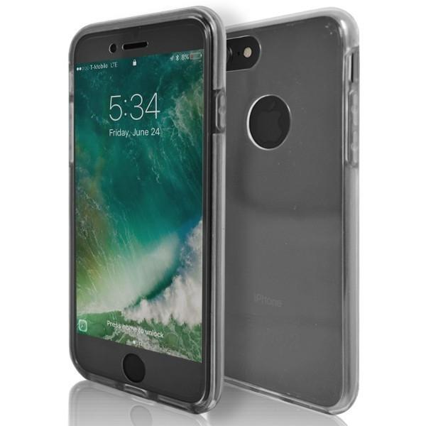 iPhone 7 Case- Front And Back Full Silicone Protective Clear Transparent
