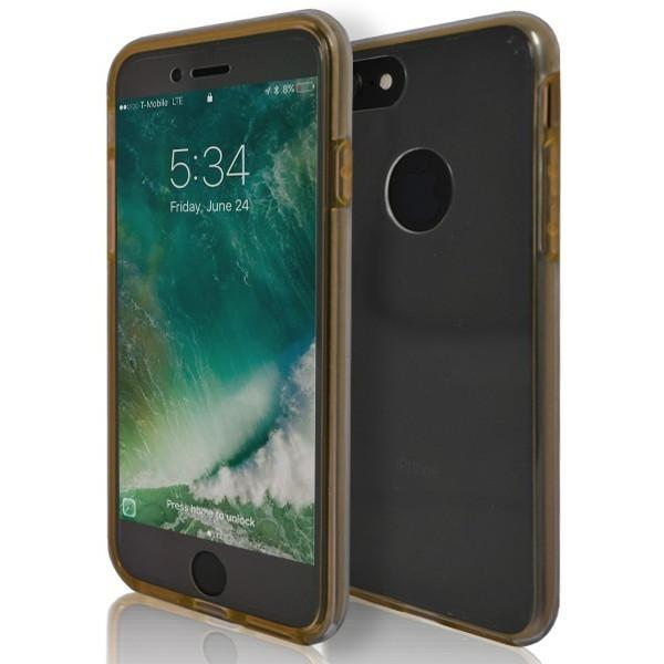 iPhone 8 Plus - Full Cover Protective Case Rear And Screen - Gold
