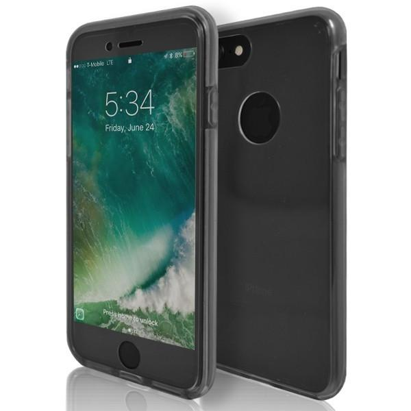 iPhone 7 Case- Front And Back Full Silicone Protective Grey