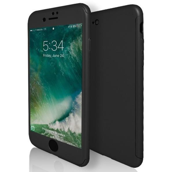 iPhone 7 Case- Front And Back Full Silicone Protective Black
