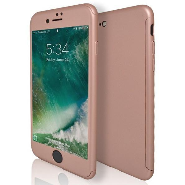 iPhone 7 Case- Front And Back Full Silicone Protective Rose Gold