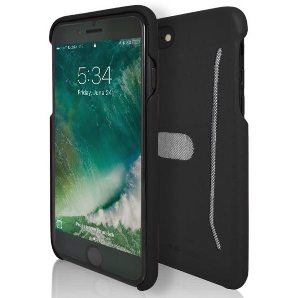 Apple iPhone 7 Plus Protective Shell Silicone Card Case - Black