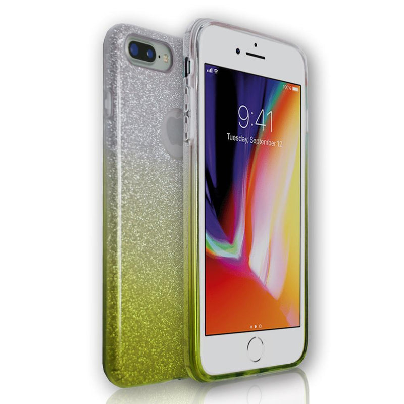 Apple iPhone 6 - Gold Glitter Silicone Gel Fade Case
