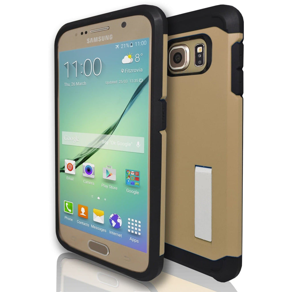 Samsung Galaxy S6 Silicone Armour Case Cover - Gold