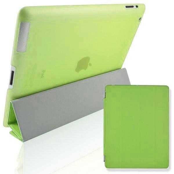 iPad 2 / 3 / 4 - Magnetic Slim Flip Cover & Hard Back Stand - Green
