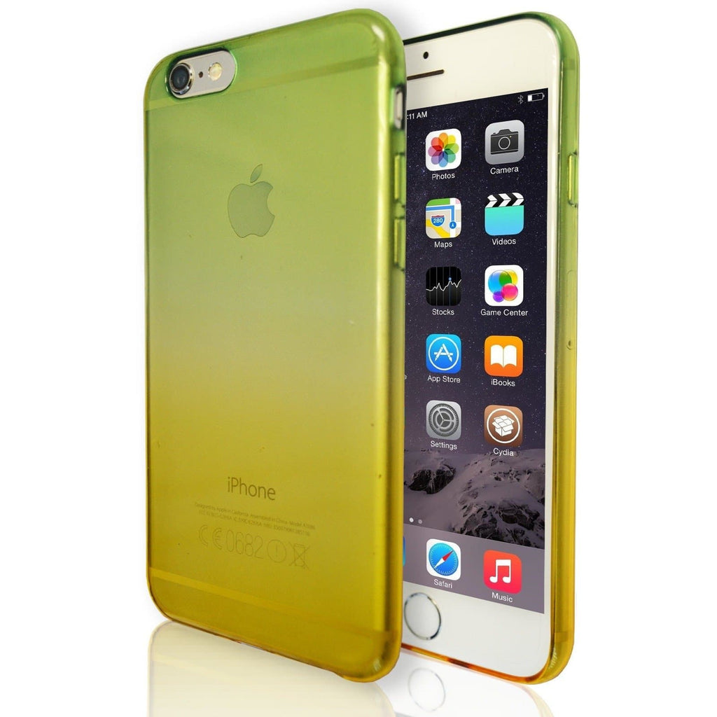 iPhone 6 / 6S Luxury Slim Fit Fade Case - Green / Yellow