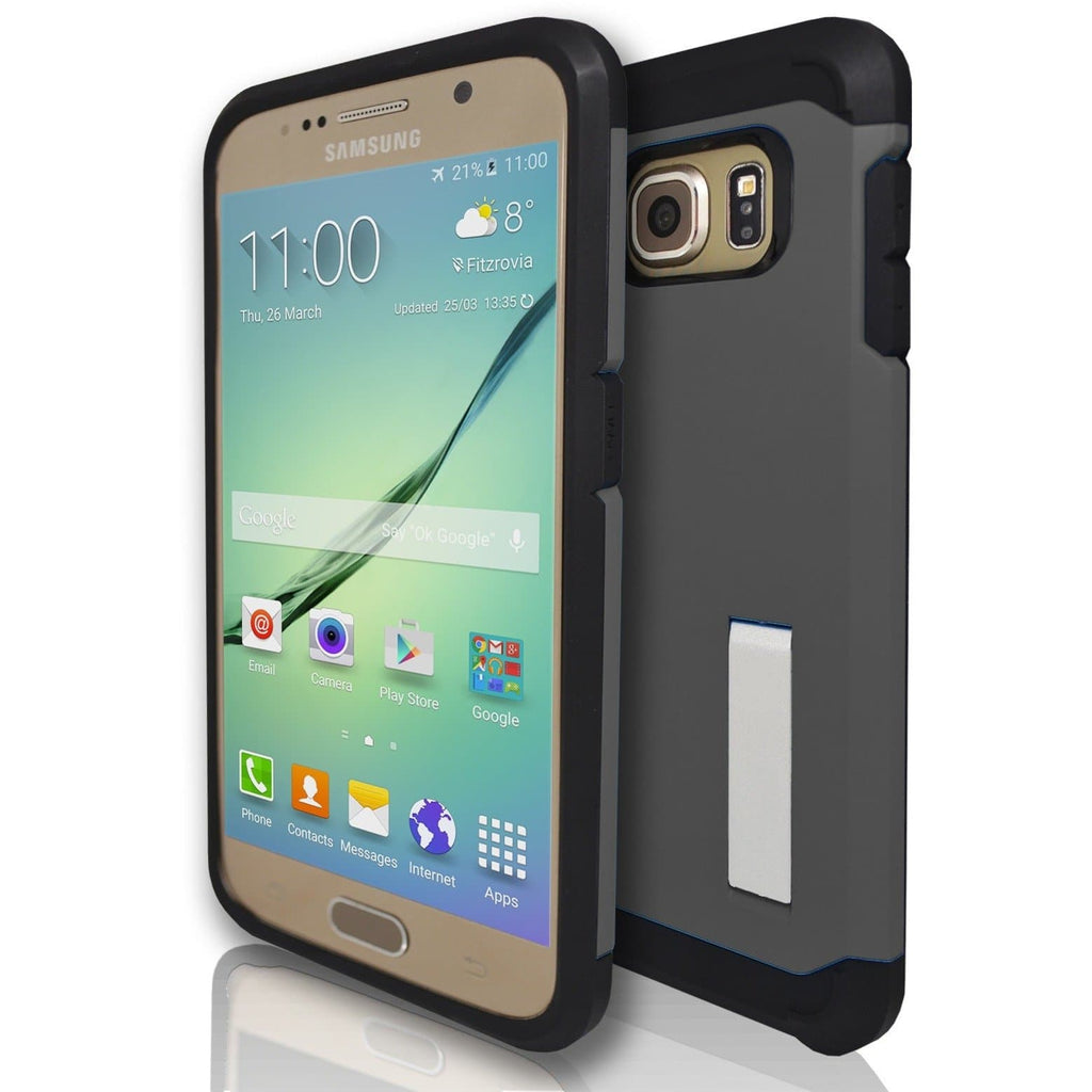 Samsung Galaxy S7 Silicone Armour Case - Grey