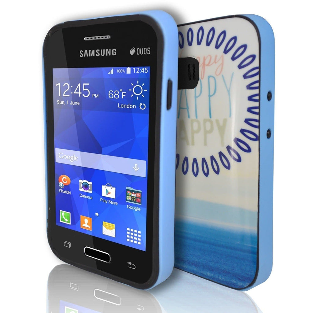 Samsung Galaxy Young 2 - Happy TPU Gel Rubber Silicone Case