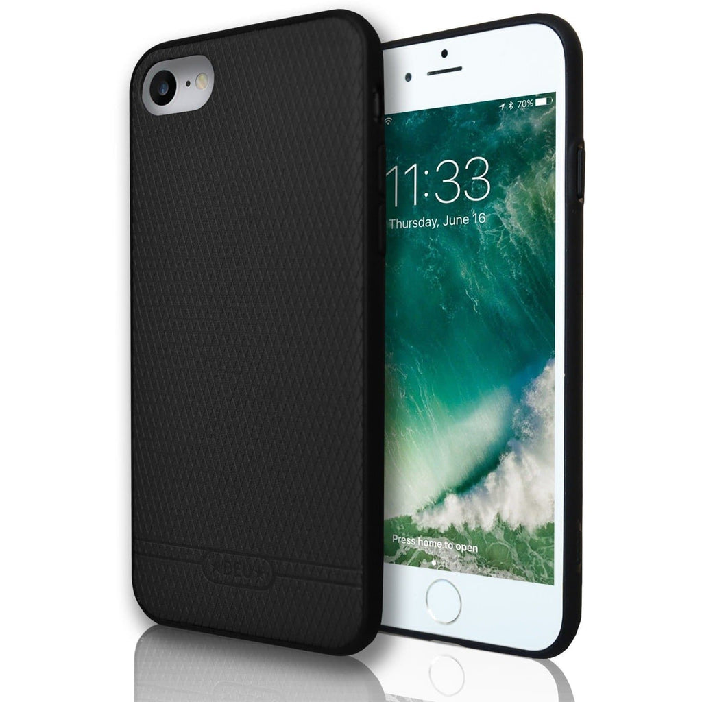 Apple iPhone 7 Diamond Hash Silicone Case - Black