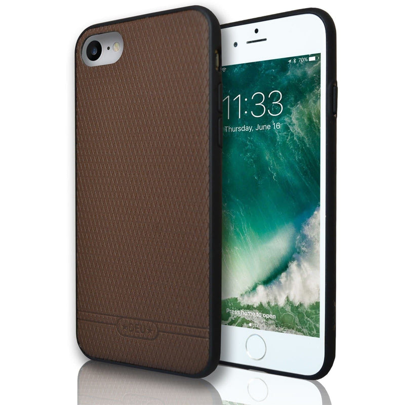 Apple iPhone 7 Diamond Hash Silicone Case - Brown