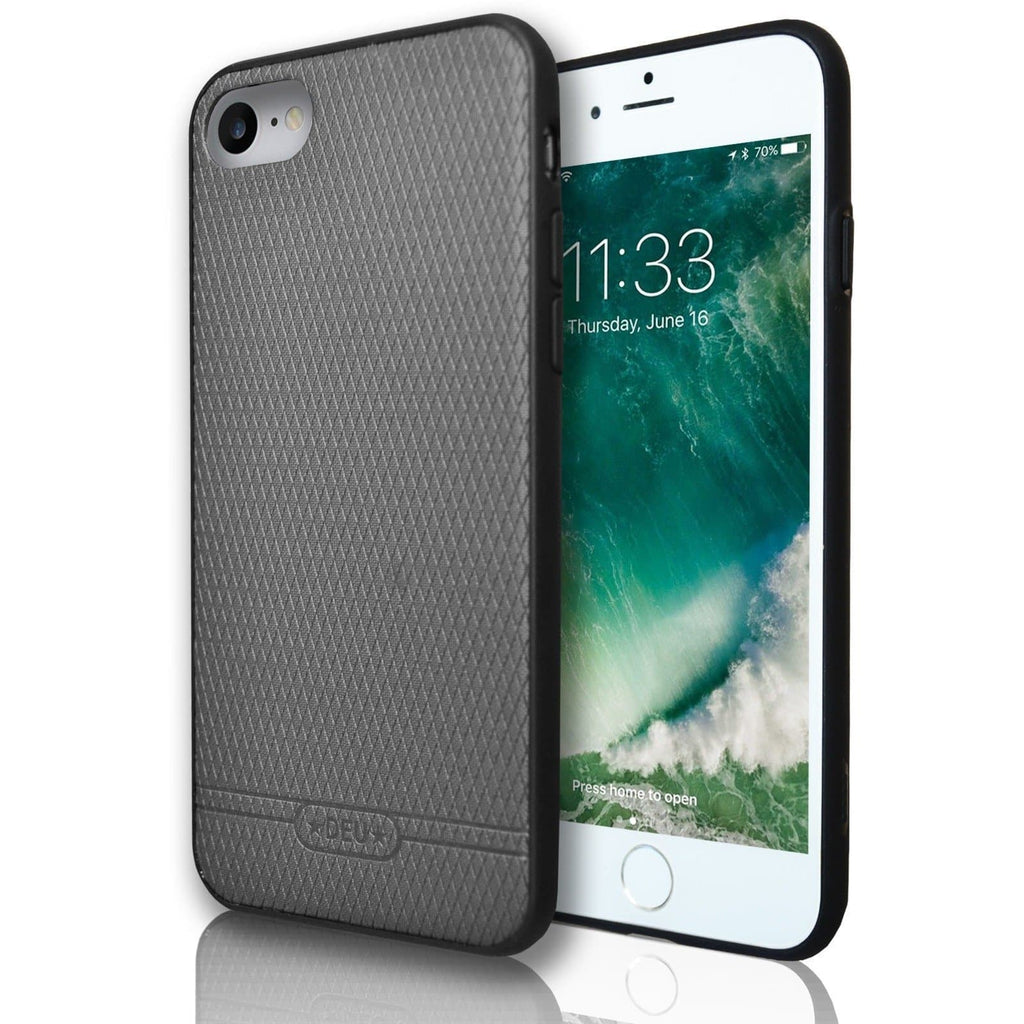 Apple iPhone 8 Diamond Hash Silicone Case - Grey