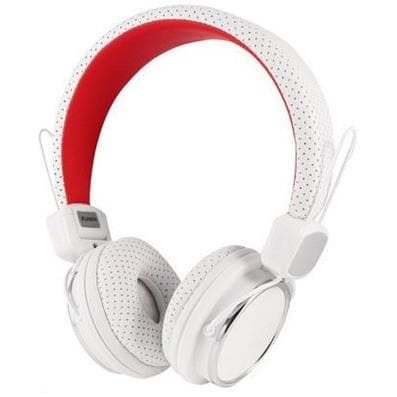 Headphones - Kanen IP-850 White Portable Headphones MP3 Stereo Headband Over Ear Earphones DJ With Mic