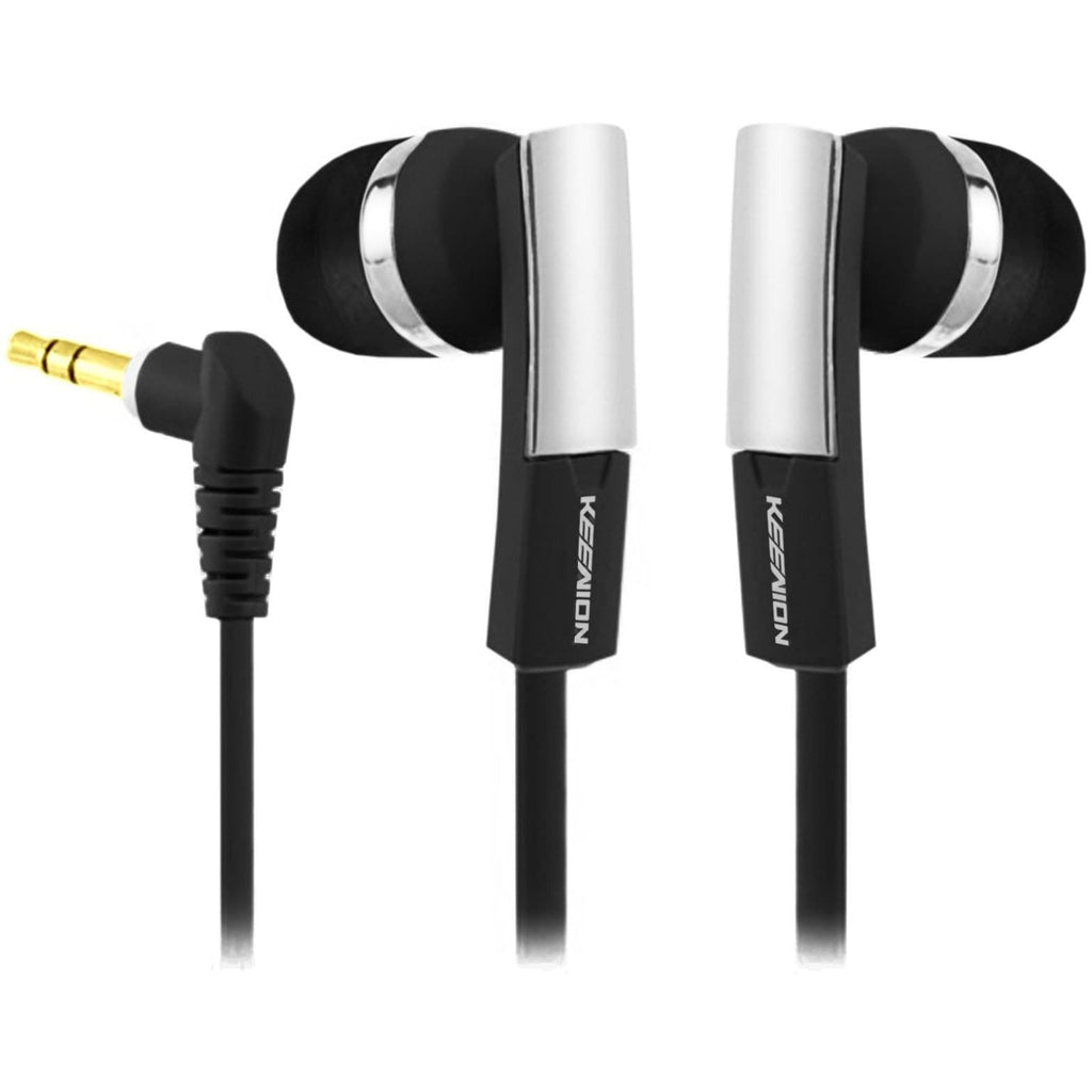 Headphones - KEENION CHROME EARBUD IN EAR EARPHONES HEADPHONE NOISE ISOLATING GYM RUNNING