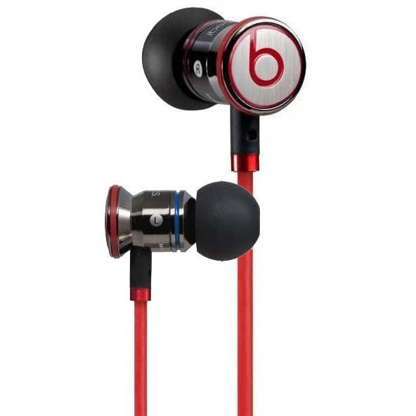 Headphones - Monster Urbeats By Dr. Dre In-Ear Headphones Black/Red Carry Pouch Buds Clip Included.