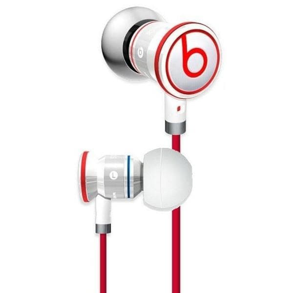 Headphones - Monster Urbeats By Dr. Dre In-Ear Headphones White/Red Carry Pouch Buds Clip Included.