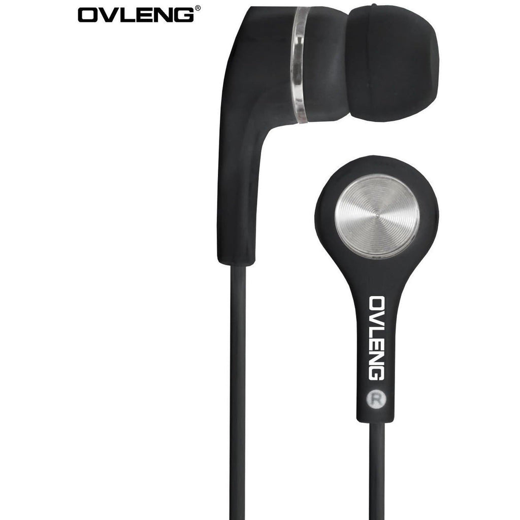 Headphones - Ovleng IP-530 Black Headphones MP3 Stereo In Ear High Resolution Earphones + Mic