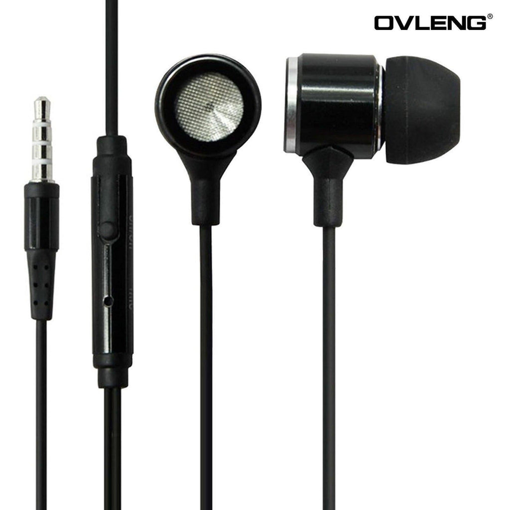 Headphones - Ovleng IP-680 Black Headphones MP3 Stereo In Ear High Definition Earphones + Mic