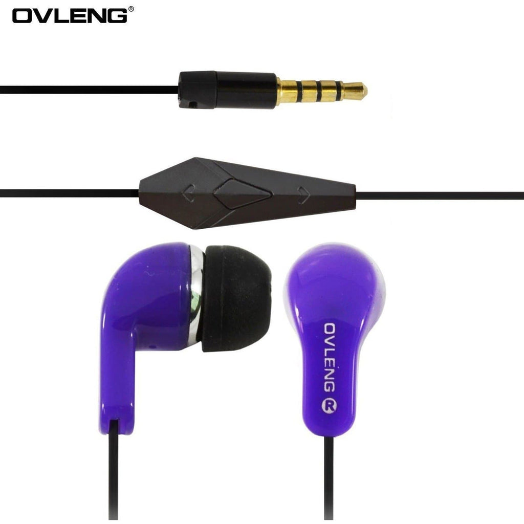 Ovleng IP740 Purple Headphones For Nokia Devices