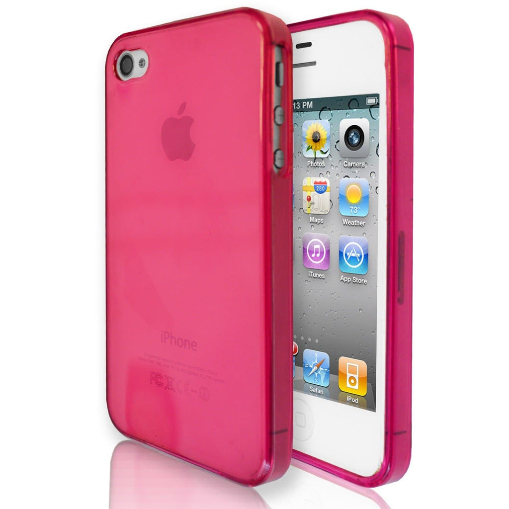 iPhone 4 / 4S -  Hydro Gloss Gel Silicone Case - Hot Pink