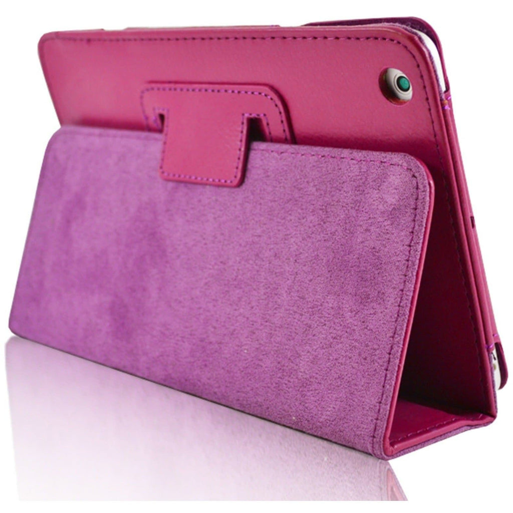 Apple iPad Air 2 - Flip Stand Protective Leather Case - Hot Pink