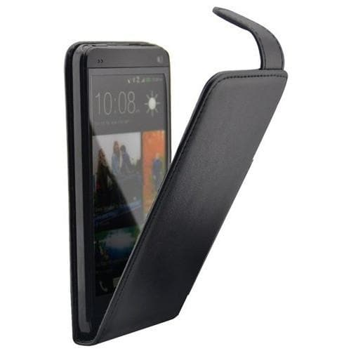 HTC One M7 - Flip Wallet PU Leather Case - Black