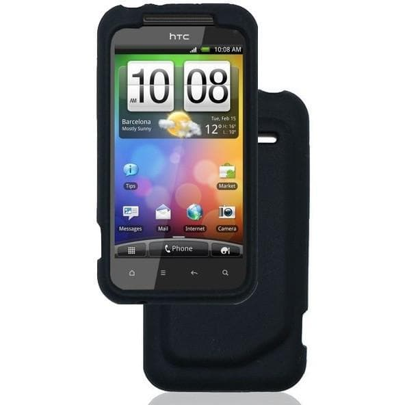 HTC Incredible S Case - Silicone Skin Case Cover - Black