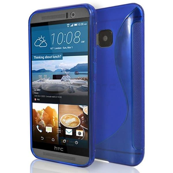 HTC One M9 - S Line Gel Silicone Case - Blue