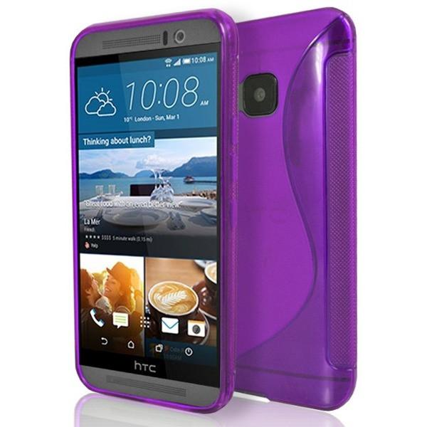 HTC One M9 - Purple S Line Gel Silicone Case