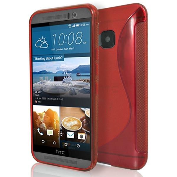 HTC One M9 - Red S Line Gel Silicone Case