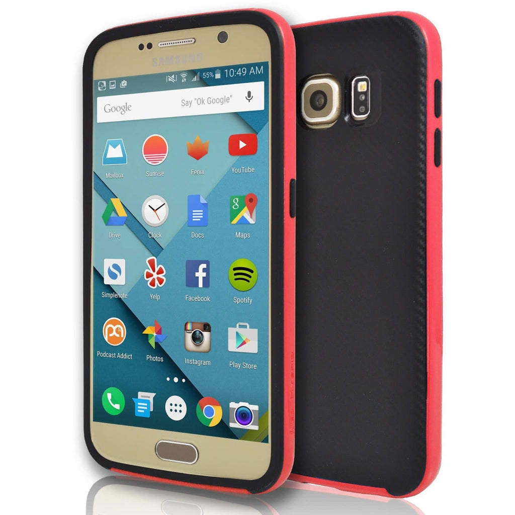 Samsung Galaxy S7 Edge - Hybrid Protective Case - Red
