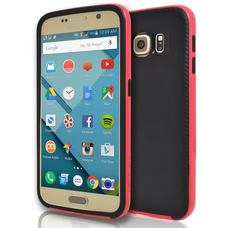 Samsung Galaxy S6 Edge - Hybrid Protective Case - Red