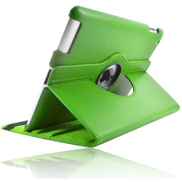 Green 360 Rotating Leather Case Stand For iPad Mini