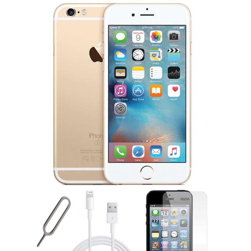 Apple iPhone 6S Champagne Gold (128GB) Unlocked Pristine Condition Basic Bundle