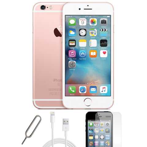 Apple iPhone 6S Rose Gold (16GB) Unlocked Pristine Condition Basic Bundle